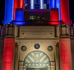 San Diego County Administration Building - 4th of July, 2018 - 4 (StarDude Astronomy) Tags: 4th july fireworks show san diego big bay boom county administration building government skyline sky rocketsr red glare fire city festive festivities sony alphy a7riii a7 42 megapixels celebration tom hams lighthouse photography patriot patriotism fourth explosion