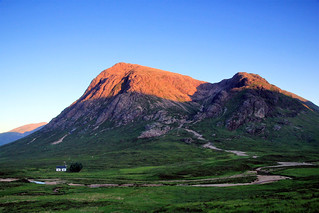 Sunset tipped Buachaille