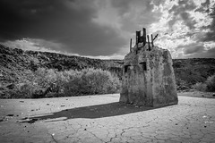 Worn Down Ruins (dwblakey) Tags: chalfant desert bishop monocounty junk clouds california ruins mining monochrome easternsierra blackandwhite quarry outdoors history concrete volcanictableland volcanictablelands cement unitedstates us