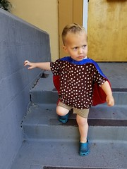 Serious superhero (quinn.anya) Tags: paul toddler superhero cape captainamerica serious