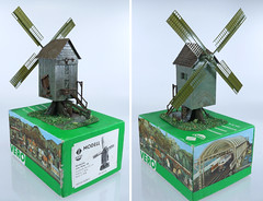 Vero 613 Windmill A (2-82) (adrianz toyz) Tags: tt scale ho vero plastic model railway scenic scenery windmill windmühle fertigmodell ddr gdr eastgermany 613 129613 282 13282