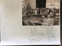 Class of 1968 in kindergarten