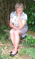 Grybodsilvblo (fionaxxcd) Tags: cd tg ts ladyboy drag femmeboi mtf m2f transvestite tranny trannie crossdresser crossdressing xdresser xdressing tights bust breast blonde pearls redlips rednails thighs