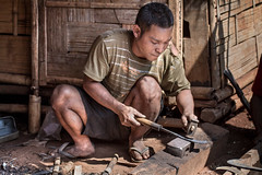 Blacksmith, Laos (pas le matin) Tags: travel voyage laos lao asia asie southeastasia world man homme portrait street blacksmith worker canon people 7d canon7d canoneos7d eos7d