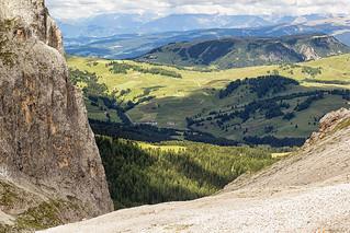 In fondo l'Alpe di Siusi