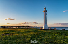 Evening Sun At Seaburn Lighthouse (robinta) Tags: light cityscape seascape landscape shadows ngc england sunderland nationalgeographic architecture lighthouse historic landmark building pentax ks1 sigma sigma18200mmhsmc colour