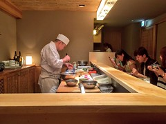 Raw seafood dinner - Tokyo (cattan2011) Tags: 日本 traveltuesday travelphotography travelbloggers travel chef meals traditional japanese culture raw seafood restaurant foodie foods tokyo japan dinners