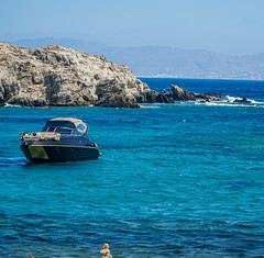 From Delos, Greece.   Stunning Water. (valerie.toalson) Tags: water mykonos delos aegeansea