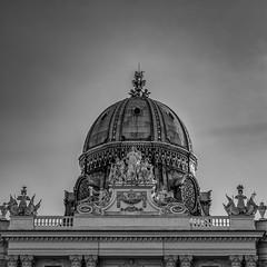 Vienna (XX) (Jose Juan Luque) Tags: vienna austria hofburg palace cupola bw bnw blacknwhite blackandwhite monochrome street urban blackwhite