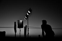 summer lights (Katerina Atha) Tags: summer lights concert music man afternoon bw blackandwhite