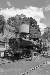 BR Pannier 7714 (Luzon Jim) Tags: day mono camera 7714 pannier railway uk steamintheuk outdoor heritage severnvalleyrailway