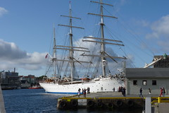 Statsraad Lehmkuhl Tall Ship in Bergen, Norway (Joseph Hollick) Tags: bergen norway ship tallship sailboat