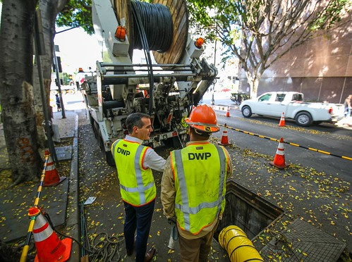 Mayor Garcetti meets with LADWP team members and surveys infrastructure and equipment updates