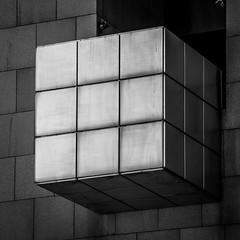 Rubik's cube balcony (ericbeaume) Tags: lavillette paris noirblanc nb noiretblanc monochrome urbain urban cube balcony city town square abstract abstrait ericbeaume