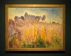 Jan Altink, Kerkje van Oostum, 1958 (Jeroen Hillenga) Tags: painting schilderij deploeg groningen groningermuseum museum tentoonstelling expositie