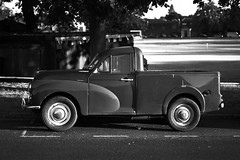 Old Sport, Kew Bridge, London (bartekrutkowskiphotography) Tags: old car cars truck timemachine bw blaclandwhite kew kewbridge automobile monochrome mono monochromatic sony alpha 55mm parking london uk