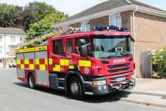 West Sussex Fire and Rescue Service Scania P280 WX15GMF (davidseall) Tags: west sussex fire rescue service scania vabis p280 wx15gmf wx15 gmf truck lorry appliance pump engine emergency vehicle apparatus