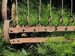 Lost Harvest (skipmoore) Tags: hoodriver antique farm equipment rust horsetail