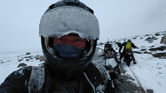 ICE ICE BABY!!! - Selfie time ;-) (=RetroTwin=) Tags: retrotwin lostillusion75 royal enfield himalayan 2018 june juni mountain india indien motorcycle journey motorrad zweirad landschaft berg landstrase himmel zanskar ice pass eis visier selfie go hard way nopainnogain schnee snow riding weather difficult special moment eiszapfen am helm iced helmet