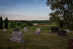 Tranquility (Nick Brown Photography) Tags: train railraod cemetery railfanning cn ge