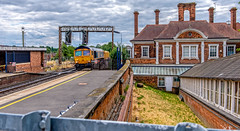 Harborough (Peter Leigh50) Tags: train locomotive freight fujifilm fuji xt2 railway railroad rail platform station market harborough gbrf building architecture chimney