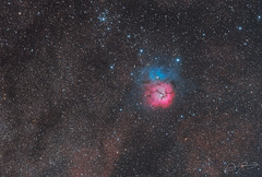 Trifid Nebula (Alejandro Pertuz) Tags: nebula trifid space cosmos astronomy universe astrophotography longexposure color dust telescope camera stargazing astrometrydotnet:id=nova2625575 astrometrydotnet:status=solved