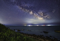 Nobska Milkyway (abhijitcpatilphotography) Tags: starpoints milkywaycore starlight nightlight milkywaychase nikonphotography nikon longexposure ocean water universe afterdark nightscape nightphotography night nightsky darksky sky stars cosmos milkyway