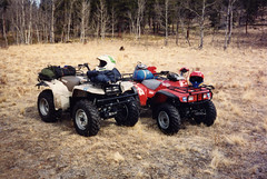 Twice Quads (twm1340) Tags: 1993 honda trx trx300 trx300fw quad atv yamaha bigbear 350 colorado co slaughterhouse gulch park county bailey