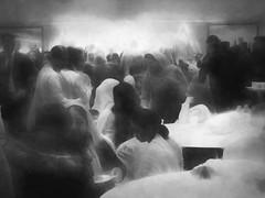 The Wedding Party (Bill Eiffert) Tags: wedding neighbours party people talking blur motion
