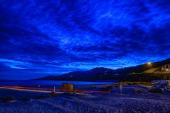 Inch Beach, Co. Kerry, Ireland: Night Trails (rocinante11) Tags: inch inchstrandbeach ireland countykerry ringofkerry dinglepeninsula night bluehour longexposure