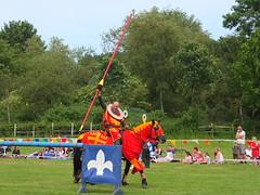 DSCF3765 (SierPinskiA) Tags: ruffordabbeycountrypark rufford knightsofnottingham fujixs1 jousting medieval horse knights goldeneagle falcon