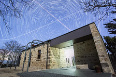 Greenhills Stars (Stuart Templeton) Tags: greenhill winery cellar cellardoor wine region south australia adelaidehills adelaide hills sa night stars star trails startrails planes