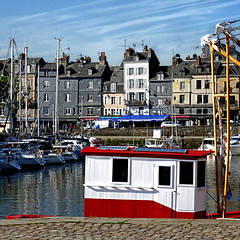 Honfleur, France (pom'.) Tags: panasonicdmctz101 may 2018 normandie normandy france europeanunion boat boats harbor honfleur sky clouds lisieux honfleurdeauville paysdehonfleurbeuzeville vieuxbassin red ptitechine 100 200 300 5000