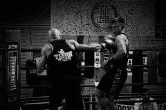 35223 - Hook (Diego Rosato) Tags: boxe pugilato boxelatina boxing ring match incontro nikon d700 2470mm tamron bianconero blackwhite hook gancio pugno punch