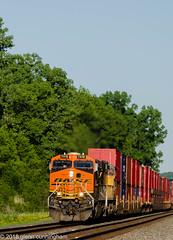 West bound stacks (glenn_cunningham) Tags: bnsf up railway railroad weedsport new york sunset usa containers speed csx trains ge locomotives