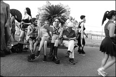 (An Unusual Saturday Afternoon) (Robbie McIntosh) Tags: leicam9p leica m9p rangefinder streetphotography 35mm leicam autaut candid strangers leicaelmarit28mmf28iii elmarit28mmf28iii elmarit 28mm color pride naplespride ondapride mediterraneanprideofnaples lgbt blackandwhite bw