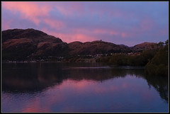 Pinks and Blues (J-o-h-n---E) Tags: nz newzealand southisland travel holiday lakewakatipu lake queenstown pink blue lastlight evening reflection
