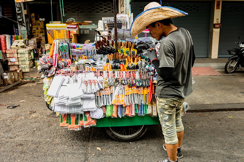 Shopping from a cart, Chiang Mai, Thailand