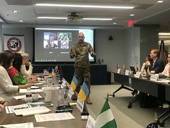 2018_INTL_TAPS_International_Working_Group_Staff_76 (TAPSOrg) Tags: taps tragedyassistanceprogramforsurvivors international tapsinternationalworkinggroup arlingtonva hq 2018 military indoor horizontal male uniform army speaker candid