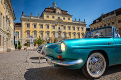 The palace and a Renault Caravelle (FocusPocus Photography) Tags: renault caravelle auto car automobil vehicle retroclassicsmeetsbarock ludwigsburg oldtimer classiccar vintagecar schloss palace