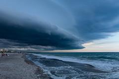 The Storm (mrBunin) Tags: cocoa beach storm sea atlantic florida sand clouds sunset evening nature