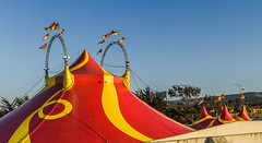 circus caballero at tenforan (pbo31) Tags: bayarea california nikon d810 june 2018 boury pbo31 sanbruno sanmateocounty panorama large tent stitched panoramic red circus show traveling over color