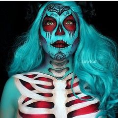 Scary Halloween Makeup Ideas  Makeup by @luvekat (ineedhalloweenideas) Tags: ineedhalloweenideas halloween makeup make up ideas for 2017 happy night before christmas october 31 autumn fall spooky body paint art creepy scary pumpkin boo artist goth gothic