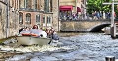 Bruges, boats and bridges! (Mike-Lee) Tags: boats bridges bruges june2018 mike jill anniversarytrip history boattrip canals brugesboatsbridges
