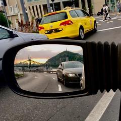 (jankowskiadam86) Tags: car redlight mirror gellérthill hungary budapest