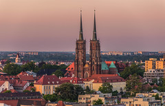 The city at sunset (Vagelis Pikoulas) Tags: sun sunset golden hour colour colors color landscape view city cityscape urban building buildings architecture wroclaw poland europe travel photography may spring 2018