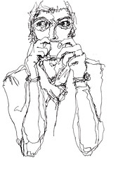 [20180617] (rodneyvdb) Tags: art blackandwhite bw cafe coffee contemporary drawing expression expressionism fashion femme illustration ink model paris portrait vogue woman