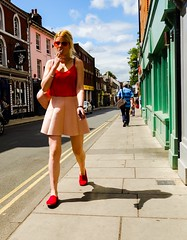 Red (denise.ferley) Tags: colourful candid sonyrx100 summerinthecity red urban uk oneaday streetlife streetphotography citylife city peopleinthestreet peoplewatching life thisisnorwich thisisengland