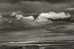 Along Highway 1 (3) (pni) Tags: monochrome sky cloud tower water sea ocean northatlanticocean view building landscape frombuswindow þjóðvegur is18 iceland ísland pekkanikrus skrubu pni