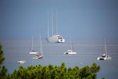C'est un fameux 3 mats (dbrothier) Tags: canon6d eos6d canonef100300mmf4556usm bateaux kalliste corsica flickrcorsicaflickrcorse yacht corse calvi boats méditerranée sea sailingyachta mer seaside lr